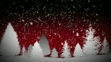 Snow and Trees (Red)