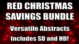 Red Christmas Abstract Loops Bundle - SD & HD included!