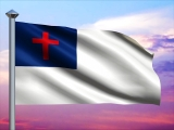 Christian Flag and Colorful Sky Loop - SD & HD included!