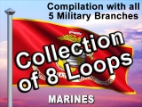 US Military Flags & Colorful Sky COLLECTION - SD & HD included!