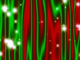 Star Curtain Christmas Red-Green - SD and HD included!
