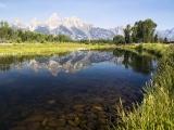 Tetons Reflected in Snake River - SD & HD still