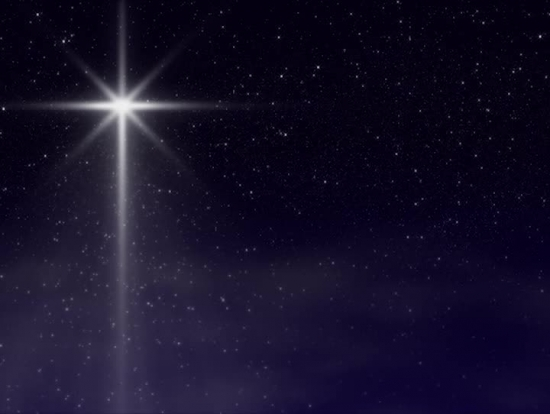 Christmas star with sparkling light loop sd hd