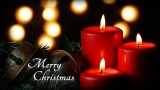Red Candles Merry Christmas Still - SD & HD included!