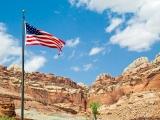 USA Flag at Capitol Reef Still