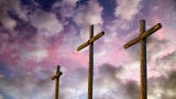 Crosses and Evening Sky Still