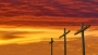 Three Crosses And Fiery Sky