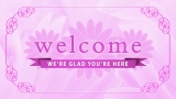 Pink Floral Welcome