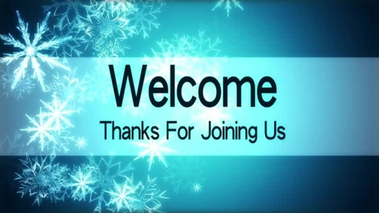 Captivating Winter Church Welcome Powerpoint Backgrounds Quotes