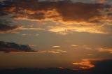 Gold Sunset Background