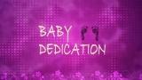 Pink Baby Girl Dedication Motion