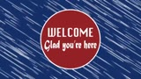 Red Blue Welcome