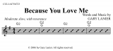 Because You Love Me (Lead Sheet Video) eMusicForWorship