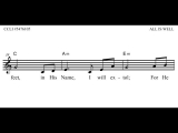 All Is Well (Lead Sheet Video) eMedia for Worship