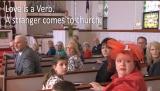 Love is a Verb.  A stranger comes to church.