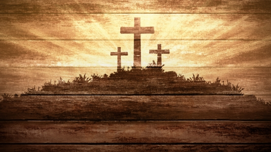 To Play Three Wooden Crosses