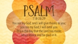 Thanksgiving Prayer Psalm Still