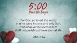 Valentine's Hearts Scripture Countdown