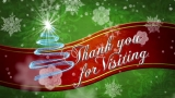 Christmas Red Ribbon Thank You Motion