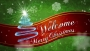 Merry Christmas Red Ribbon Welcome Motion