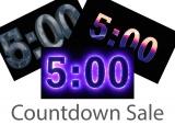 Five Minute Countdown Sale