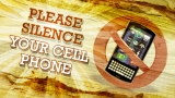 Wood Grain Cell Phone Reminder Still