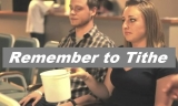 Remember to tithe