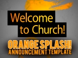 Orange Splash Announcement Template
