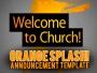 Orange Splash Announcement Template