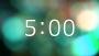 Swirling Pastel Bokeh Countdown