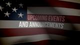 American Flag Announcements Loop