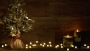 Christmas Tree With Candles On Retro Wood Background Video