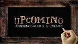 Animated Announcement and Event Chalkboard Writing Background Video