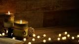 Angled Candles With Christmas Lights Video