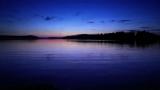 HD-Deep blue sunset peaceful rippling lake