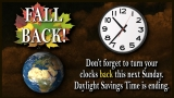 Daylight Savings Time Announcement Loop: Fall Back