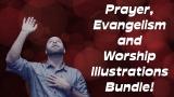 Prayer, Evangelism and Worship Illustrations Bundle