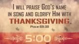 Thanksgiving Worship Countdown