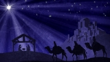 Wisemen and Manger and Bethlehem and Christmas Star Still Image