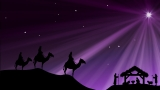 Wisemen Nativity And Christmas Star Background