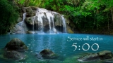 Peaceful Waterfall Countdown