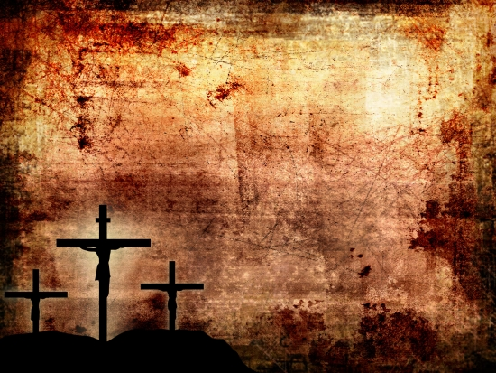 Abstract Cross On Grunge Background Christian Media