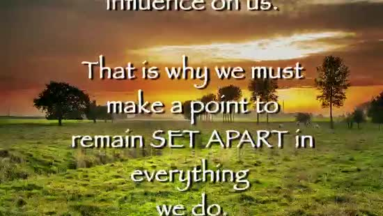 Set Apart | MOVING PICTURES | SermonSpice