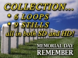 Memorial Day Collection - SD & HD Loops & Stills