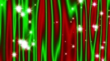 Star Curtain Christmas Red-Green - HD and SD