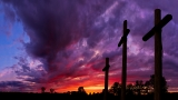 Crosses at Sunset - SD & HD wide