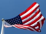 US Flag from Below - SD & HD still