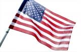 America Flag on White