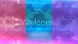 Simple welcome loop. Pink, teal purple