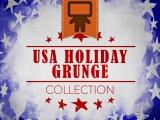 USA Holiday Grunge Collection - Spanish